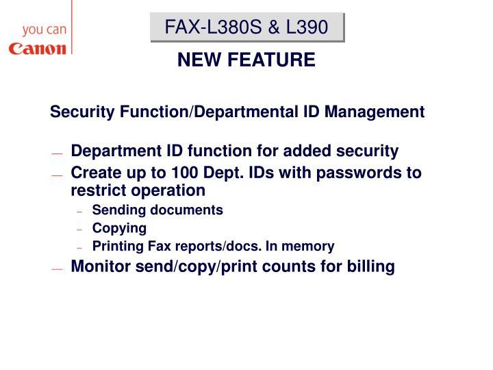 FAX-L380S & L390