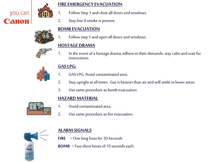 FIRE EMERGENCY EVACUATION