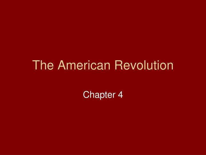 the american revolution n.