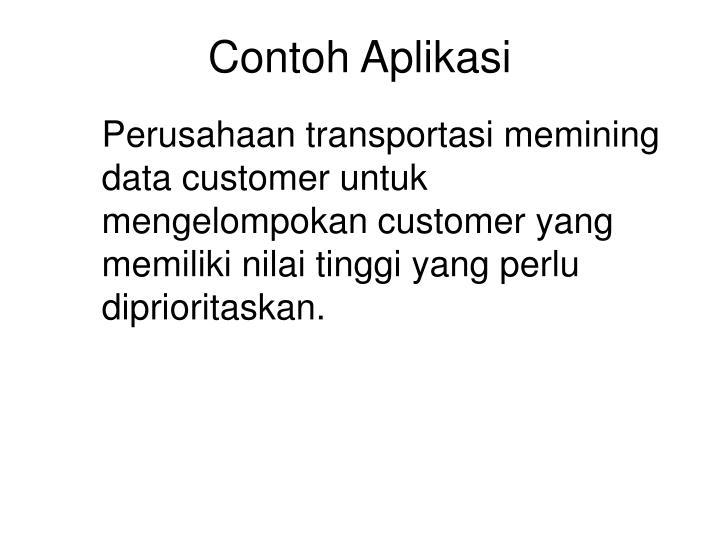 Contoh Aplikasi