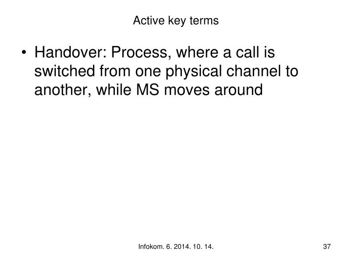 Active key terms