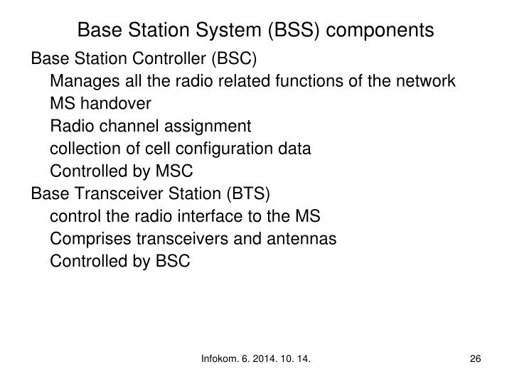 Base Station System (BSS) components