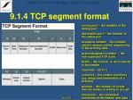 9 1 4 tcp segment format