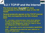 9 2 1 tcp ip and the internet layer