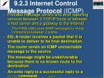9 2 3 internet control message protocol icmp