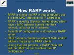 how rarp works