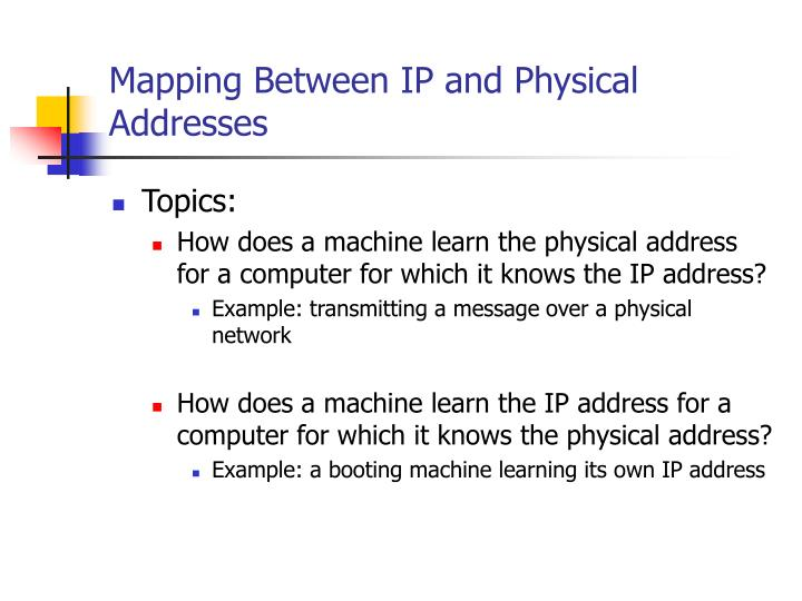 PPT - Mapping Between IP and Physical Addresses PowerPoint