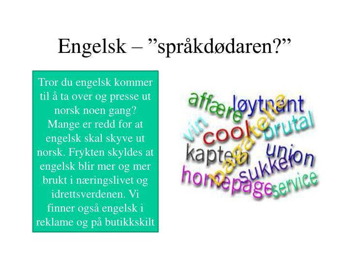 """Engelsk – """"språkdødaren?"""""""
