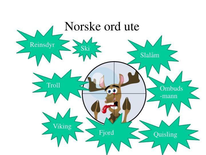 Norske ord ute