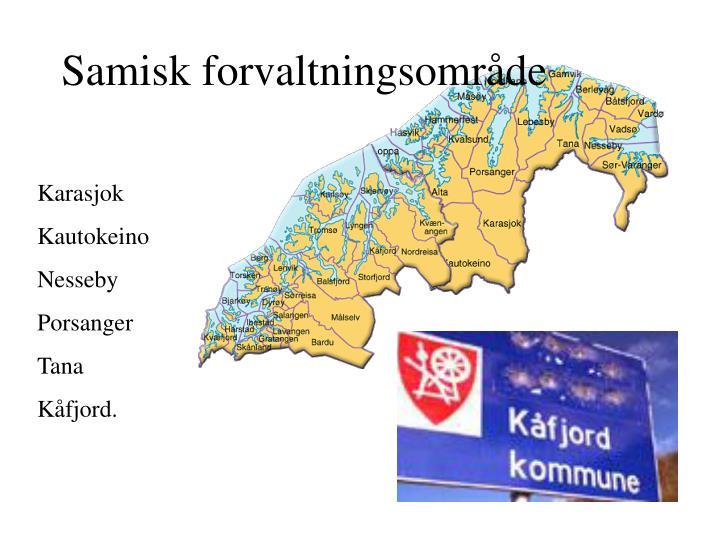 Samisk forvaltningsområde