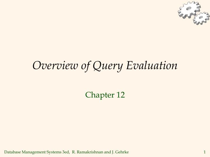 overview of query evaluation n.