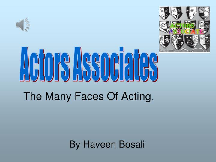 the many faces of acting n.