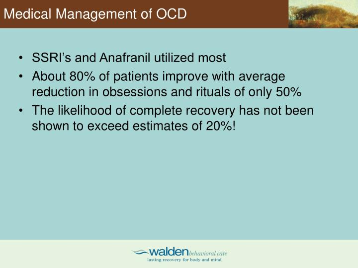 Medical Management of OCD