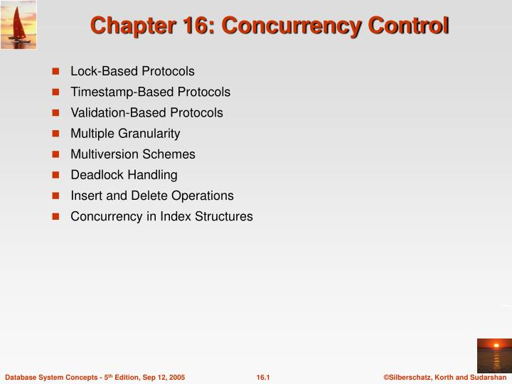 chapter 16 concurrency control n.