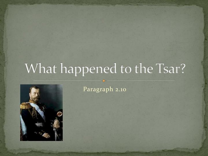 what happened to the tsar n.