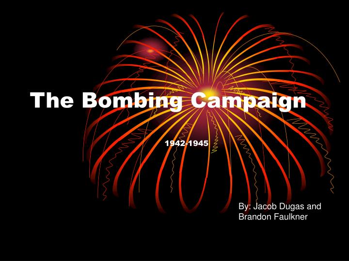 the bombing campaign n.