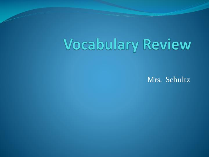 vocabulary review n.