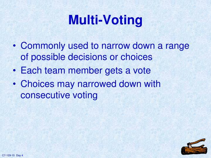Multi-Voting