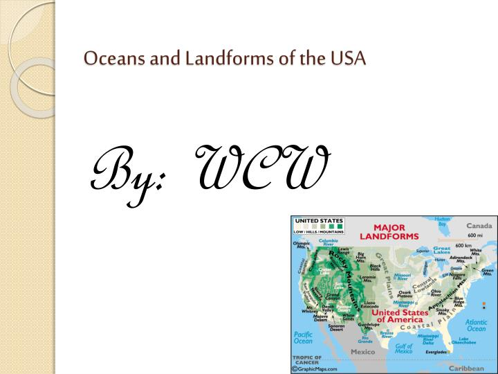 oceans and landforms of the usa n.