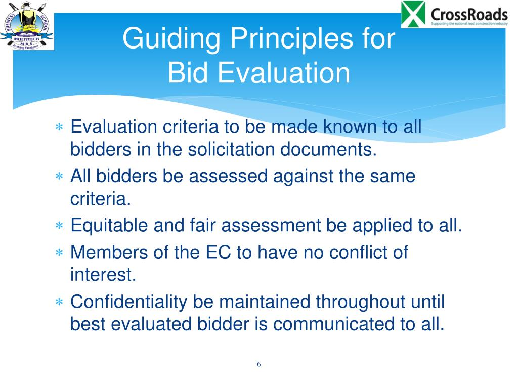 PPT - Evaluation of Bids and Contract Award PowerPoint