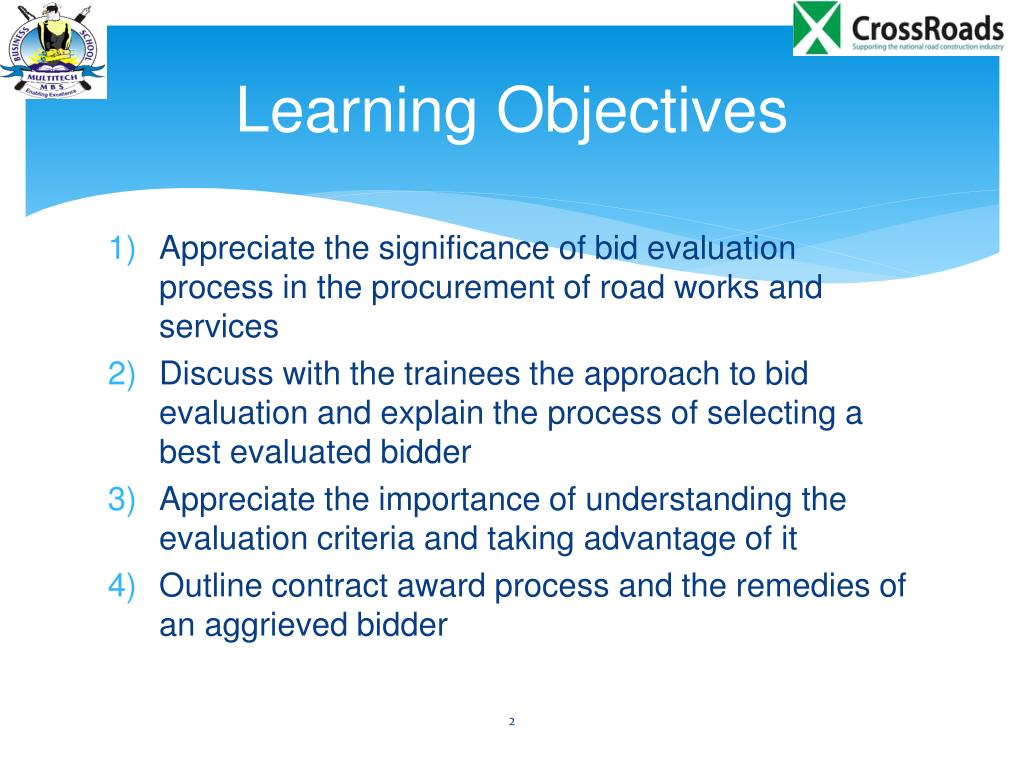 PPT - Evaluation of Bids and Contract Award PowerPoint Presentation