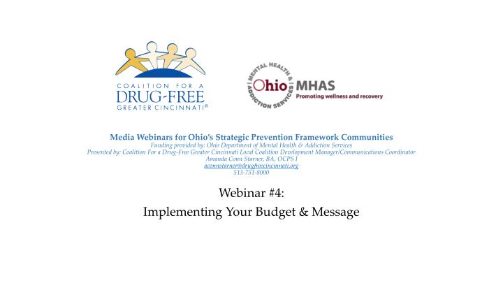 webinar 4 implementing your budget message n.
