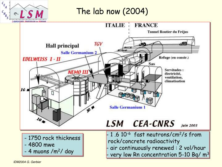 The lab now (2004)
