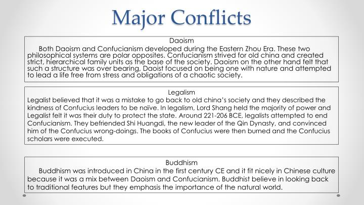 Major Conflicts