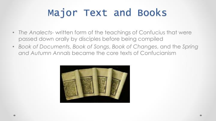 Major Text and Books