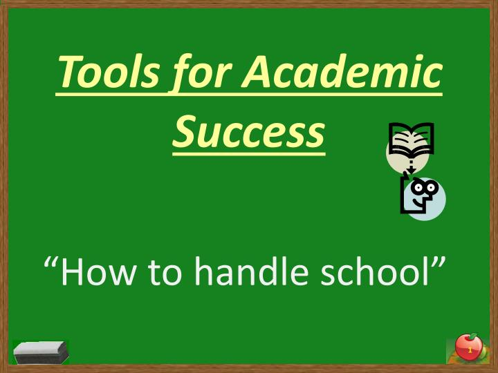 tools for academic success n.