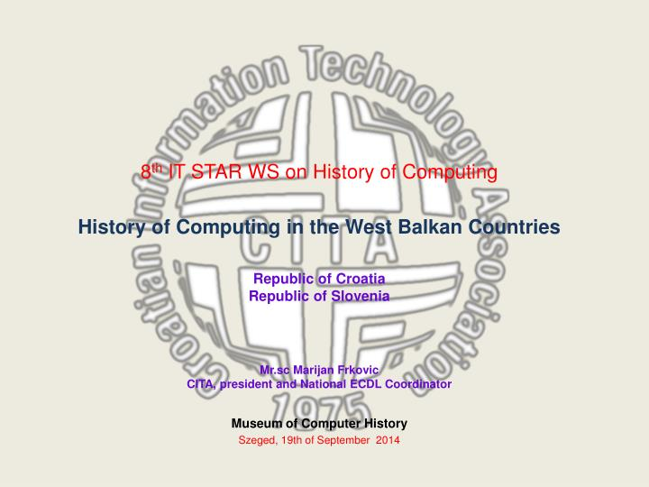museum of computer history szeged 19th of september 2014 n.