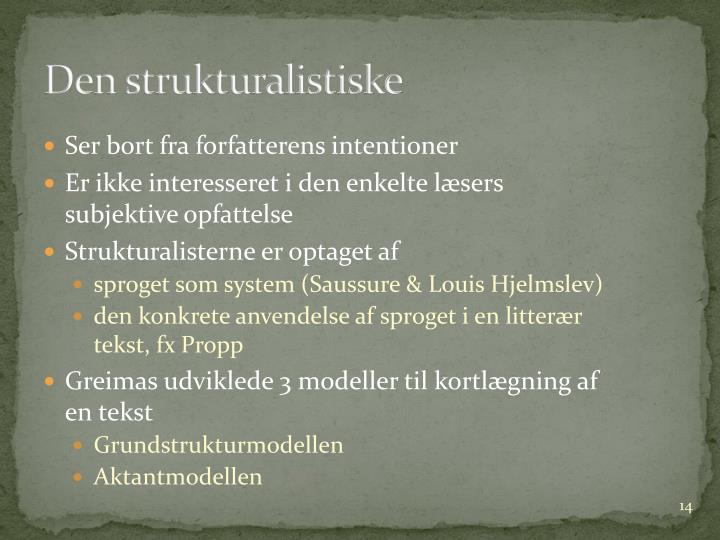 Den strukturalistiske