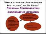 what types of assessment methods can be used4