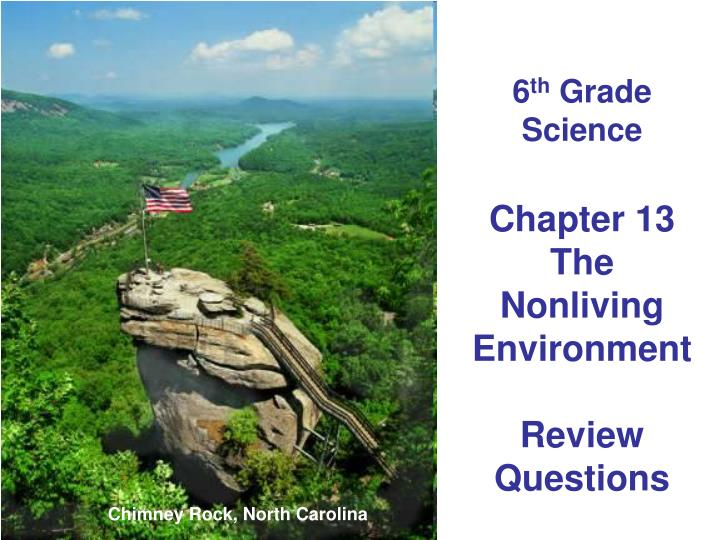 6 th grade science chapter 13 the nonliving environment review questions n.