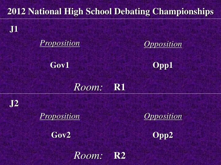 2012 National High School Debating Championships