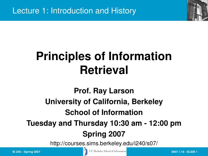 lecture 1 introduction and history n.