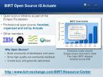 birt open source is actuate