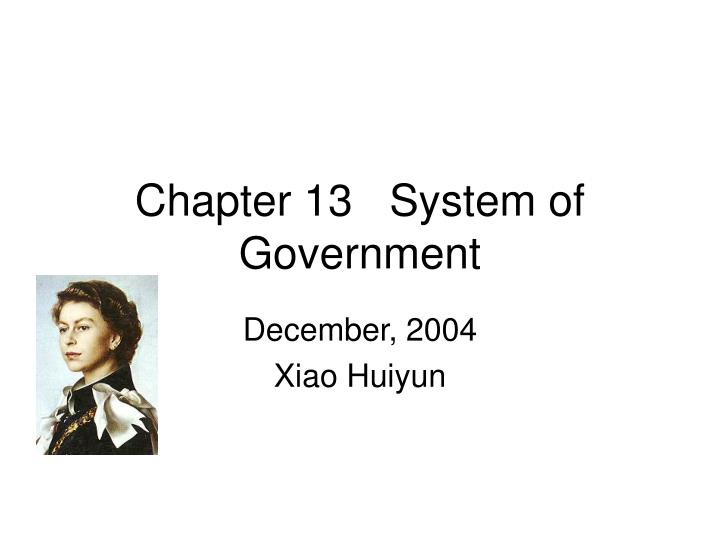 chapter 13 system of government n.