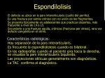 espondilolisis