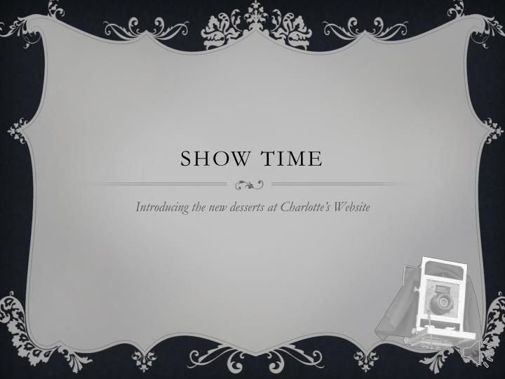 show time n.