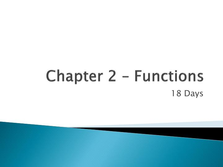 chapter 2 functions n.