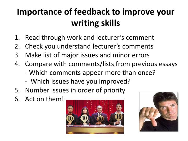 Importance of feedback to improve your writing skills
