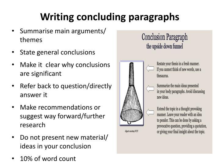 Writing concluding paragraphs