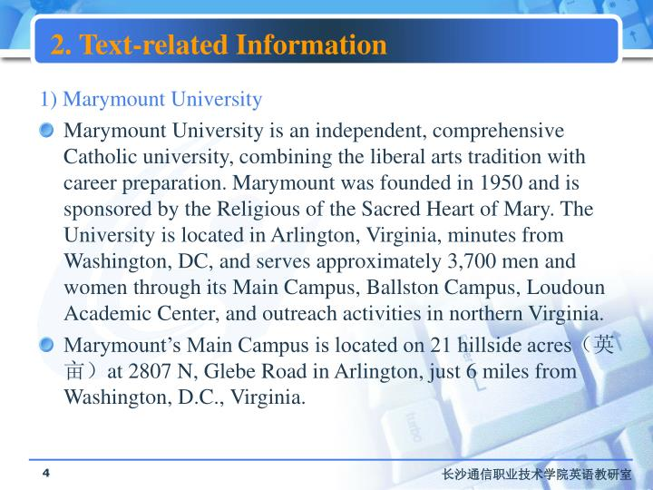 2. Text-related Information