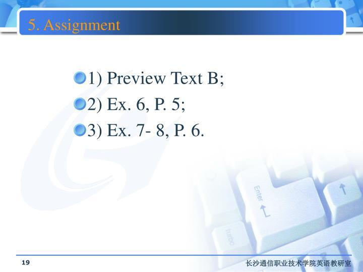 5. Assignment