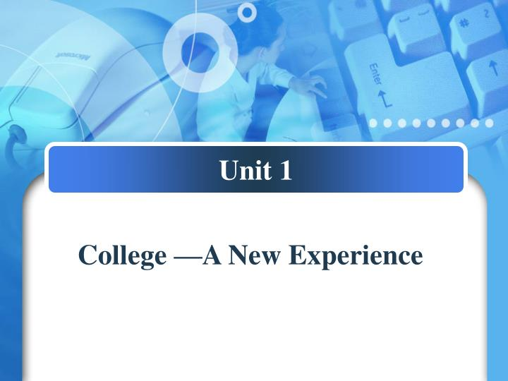 college a new experience n.