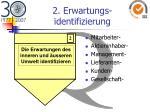 2 erwartungs identifizierung