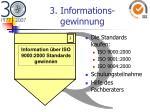 3 informations gewinnung