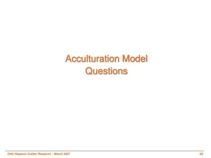 Acculturation Model