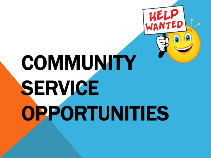community service opportunities n.